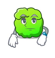 Waiting shrub mascot cartoon style vector