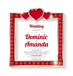 Wedding invitation thank you card vector