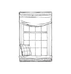 Window Hand drawn sketch vector image