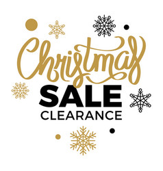 winter discounts christmas sale clearance vector image