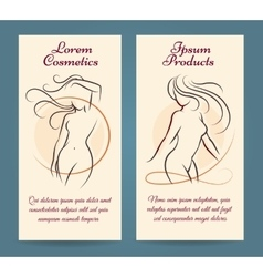 Woman health brochure template vector image