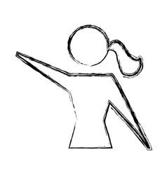 Women pictogram symbol vector