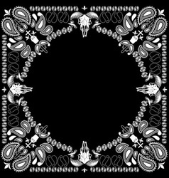 bandana pattern with goat skull vector image