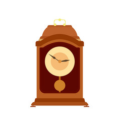 clock pendulum old grandfather antique time wall vector image