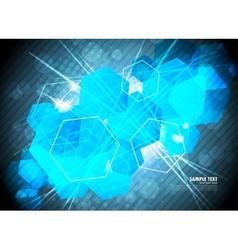 Hexagons background vector image vector image