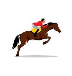 Horse at jumping sign vector image vector image
