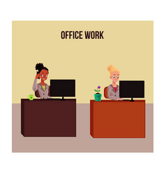 Office life poster banner with white and black vector