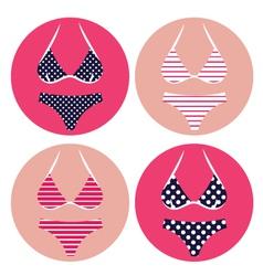 retro bikini summer vector image