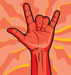 Rock roll hand sign vector