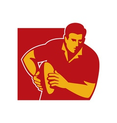 rugby player running with the ball vector image