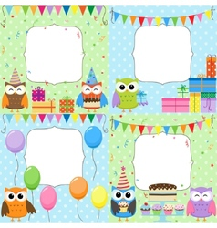 birthday party cards vector image vector image