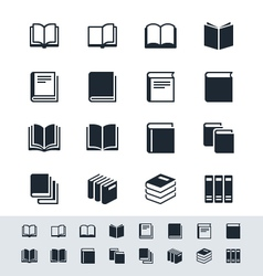 Book icon set simplicity theme vector image