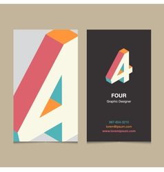 business card number 4 vector image vector image