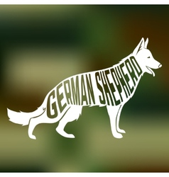 Creative design of german shepherd breed inside vector image vector image