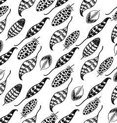 Doodle Hand drawn Seamless Pattern vector image