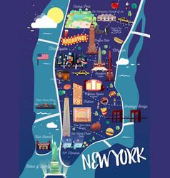 new york manhattan map vector image
