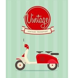Vintage bike vector image vector image
