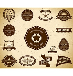 Vintage labels Collection 11 vector image vector image