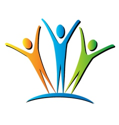 active people unifying logo vector image
