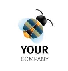 bee logo design vector image