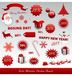 christmas boxing day icons collection vector image