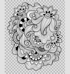 flower tattoo artwork on transparent background vector image vector image