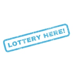 Lottery here rubber stamp vector
