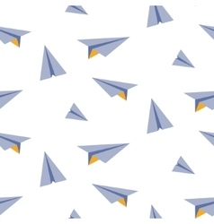 Origami paper plane seamless pattern vector image vector image