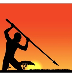 African hunter vector image vector image