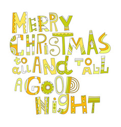 christmas greetings decorative lettering for vector image