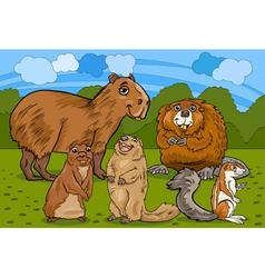 rodents animals cartoon vector image vector image