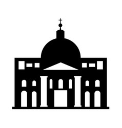 saint peter cathedral in vatican city vector image