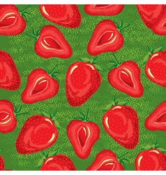 seamless pattern of ripe strawberries vector image vector image