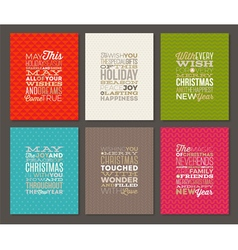 Set of Christmas type design vector image vector image
