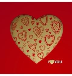 Valentine day postcard concept vector image