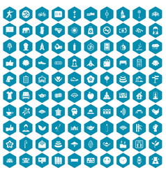 100 yoga studio icons sapphirine violet vector