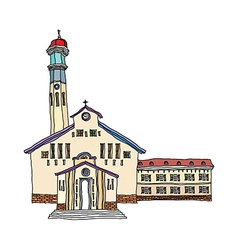 A view of church vector image