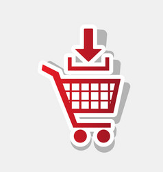 add to shopping cart sign new year vector image