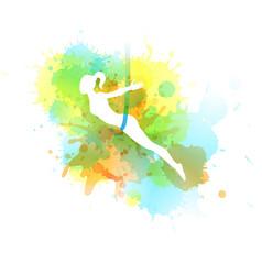 aero yoga watercolor vector image