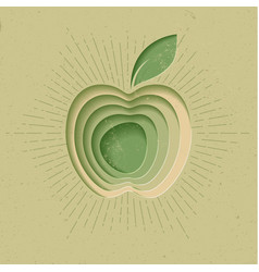 apple logo icon poster modern styled vector image