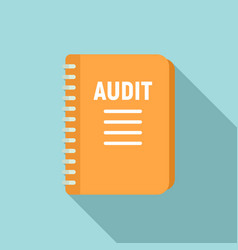 Audit notebook icon flat style vector