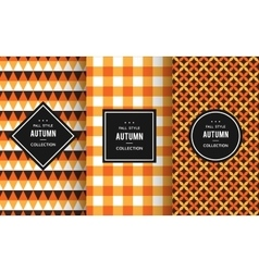 Autumn seamless patterns vector
