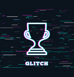 Award cup line icon winner trophy vector
