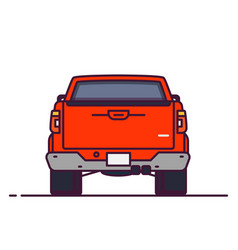 back view pick-up vector image