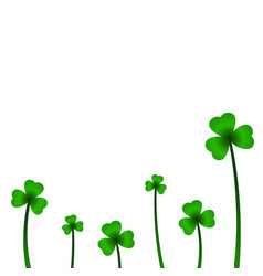 background with clover in vector image