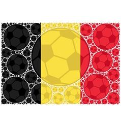 Belgium soccer balls vector