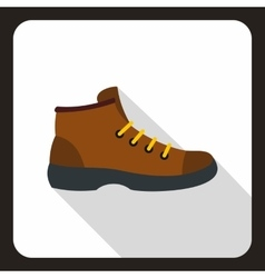Boot icon flat style vector image