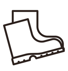 boots icon vector image