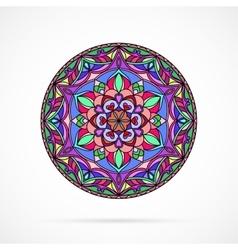 Bright Color Mandala over white vector