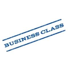 Business Class Watermark Stamp vector
